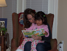 Reading a book with Mommy