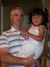 Sarah with Daddy, all ready for church!