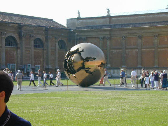 Art in the Vatican - Giant Golden Globe Scuplture