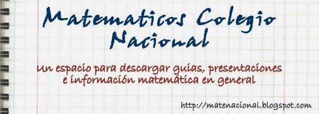 Matematicos Colegio Nacional