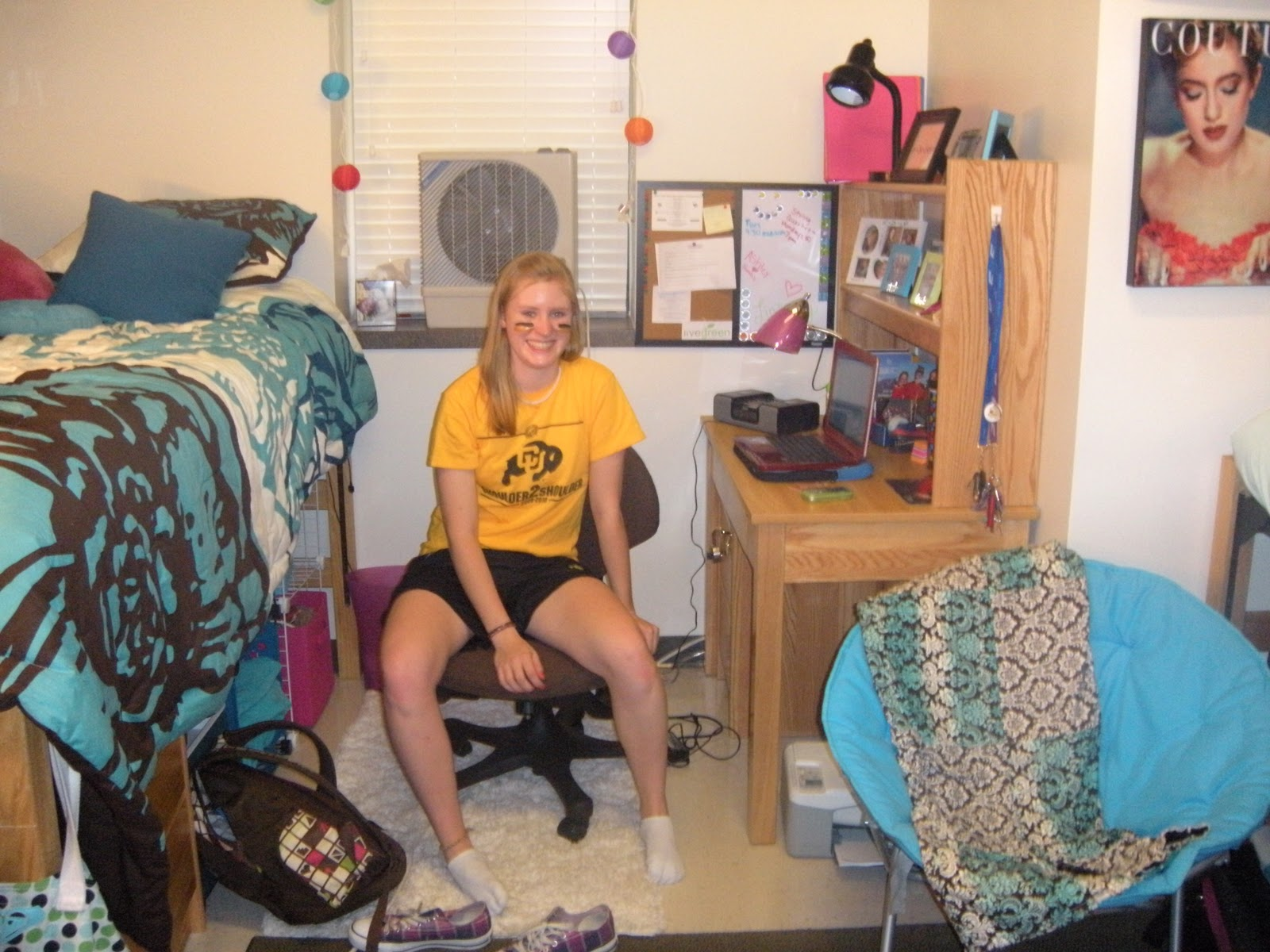 This Gives You An Idea Of The Size Of One Side Of A Double Dorm Room And  What You Can Do With Decoration And The Space. Part 52