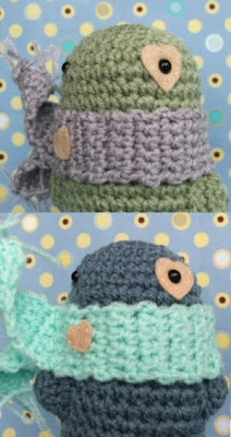 crochet toys with scarfs