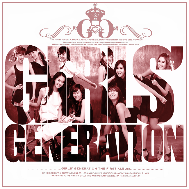 Girls' Generation (SNSD) - Debut Album (FanMade Album Cover). Made by Panda