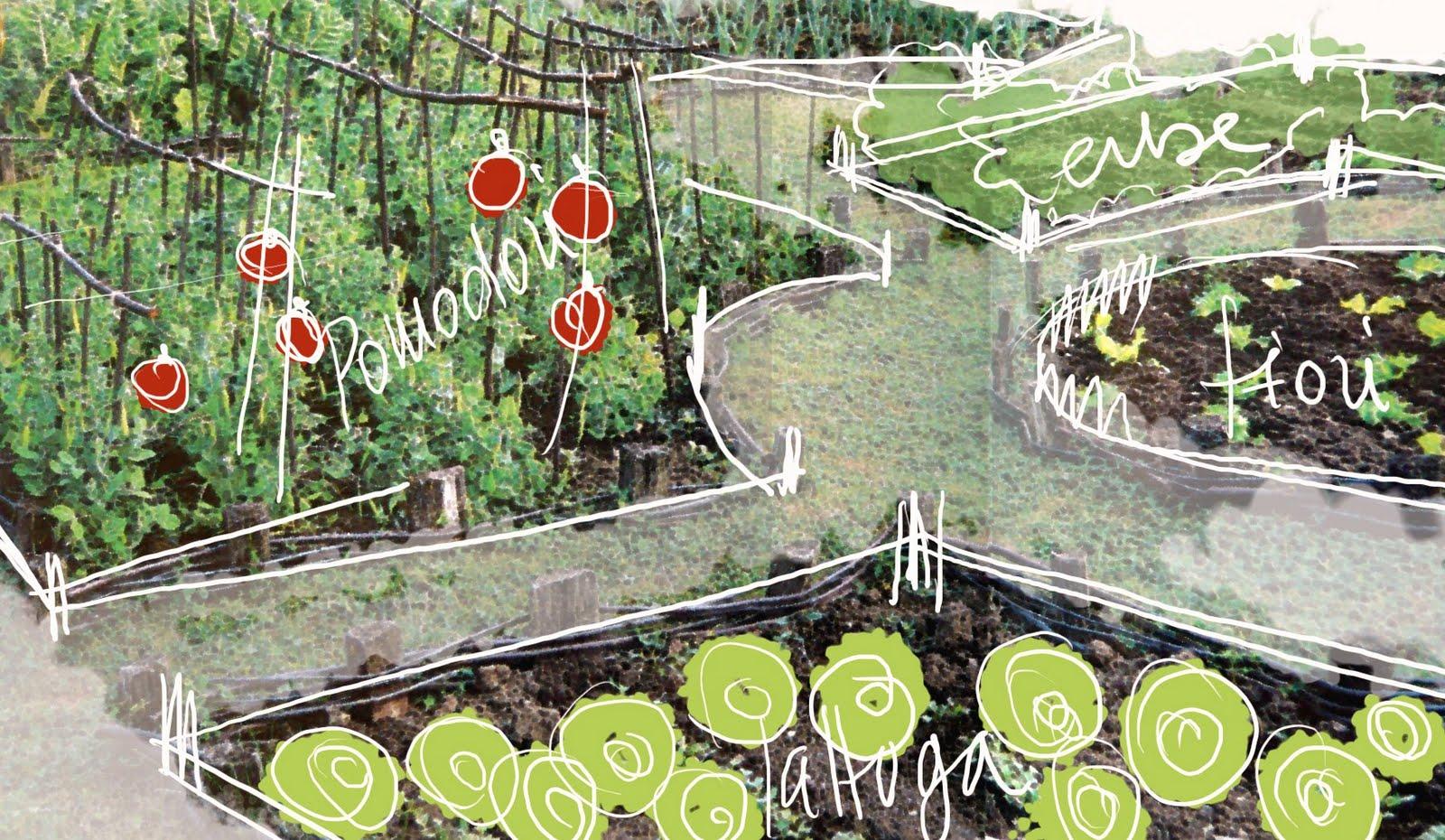 L 39 ortodimichelle il giardino per lavorare ovvero l 39 orto - L orto in giardino ...