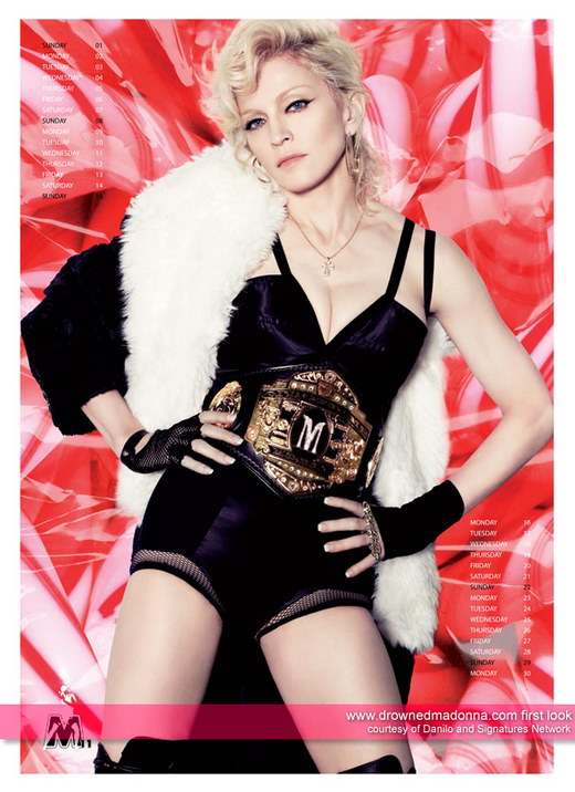 Product Photography – Official Madonna Calendar 2009 Pictures