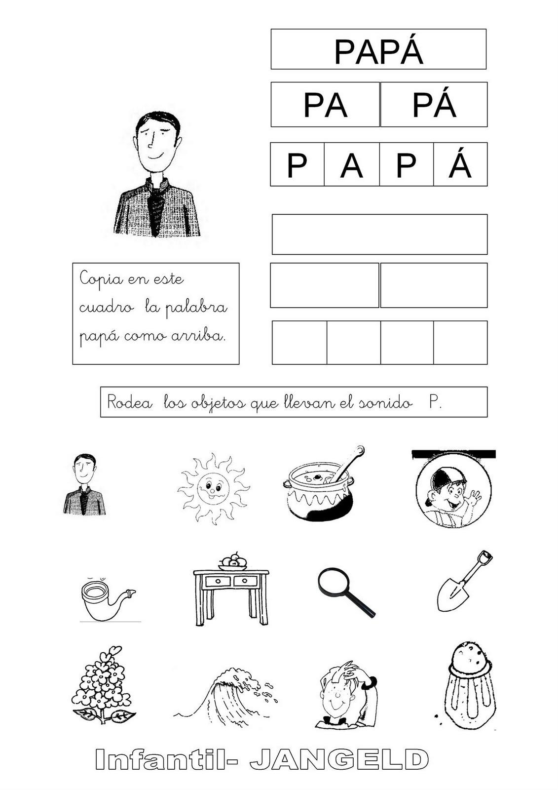 Actividades con la letra p - Imagui