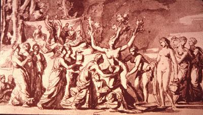 El nacimiento de Adonis, Poussin