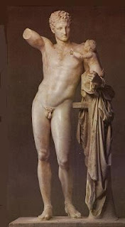 Hermes con Dioniso, Praxíteles