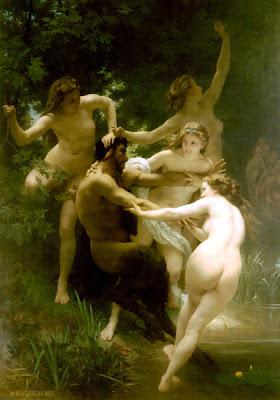 Las ninfas y el sátiro, Bouguereau