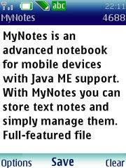 MyNotes - продвинутый блокнот для мобильных телефонов