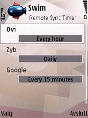 Swim  is a Remote Sync Timer for Symbian phones