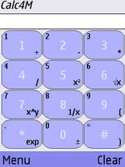 Calc4M is a calculator for mobile phones