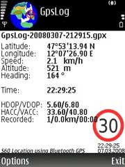 pygpslog - A GPS logger for S60 3rd editition phones