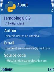 Iamdoing is a twitter client for S60 phones