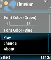 TimeBar  for Symbian OS