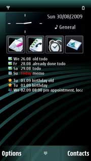 ComingNext Widget for Nokia N97