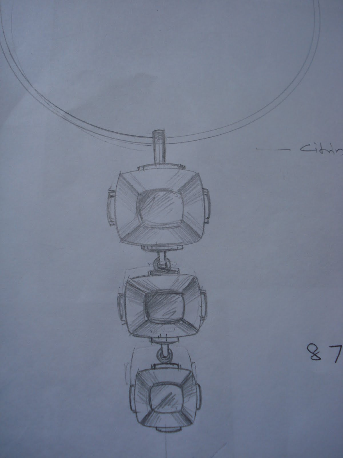 Pencil drawing of pendent