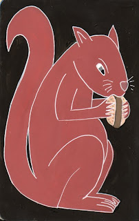 squirrel hamburger painting