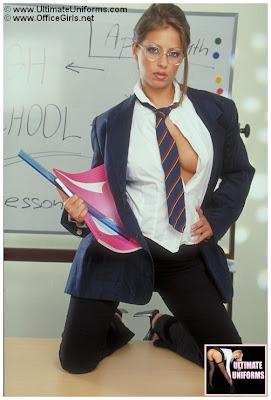 schoolgirl tease
