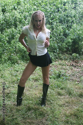 short skirt and boots uk