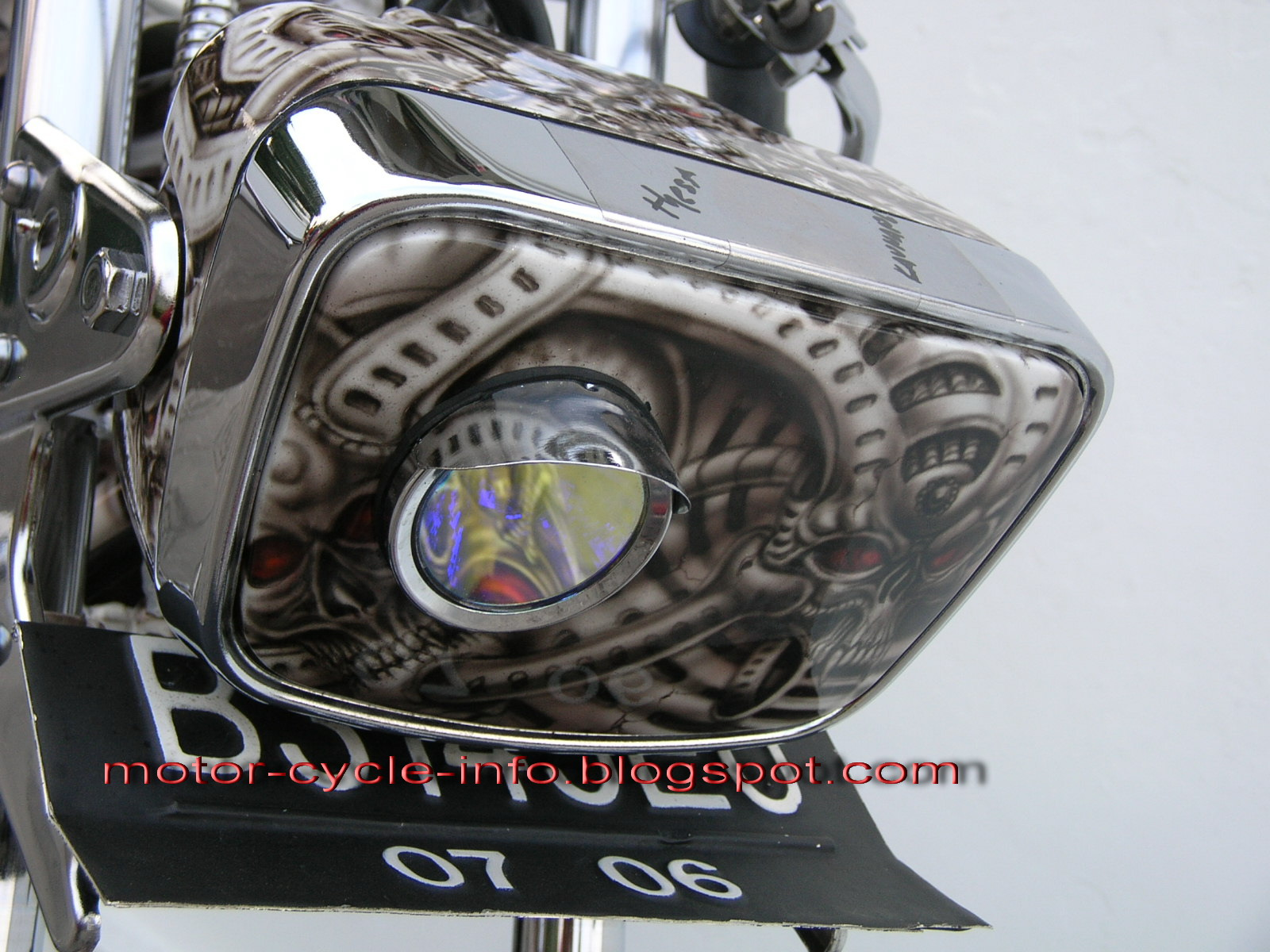 ... foto gallery is about RX king Modification art airbrush in skull thema