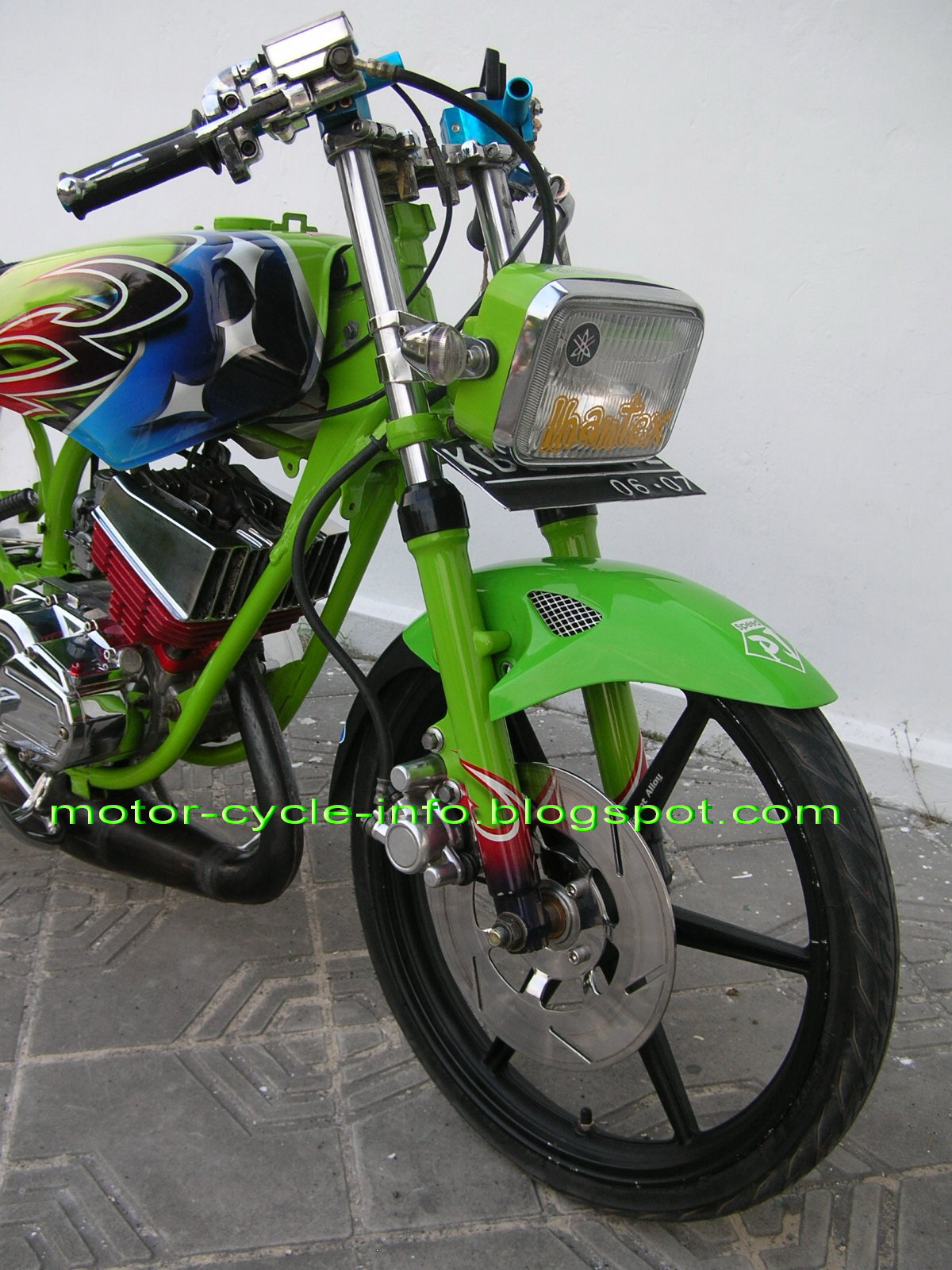 modifikasi motor rx king extreme airbrush
