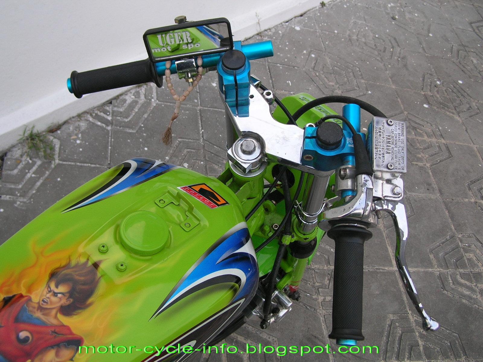 ide modifikasi motor rx king warna hijau