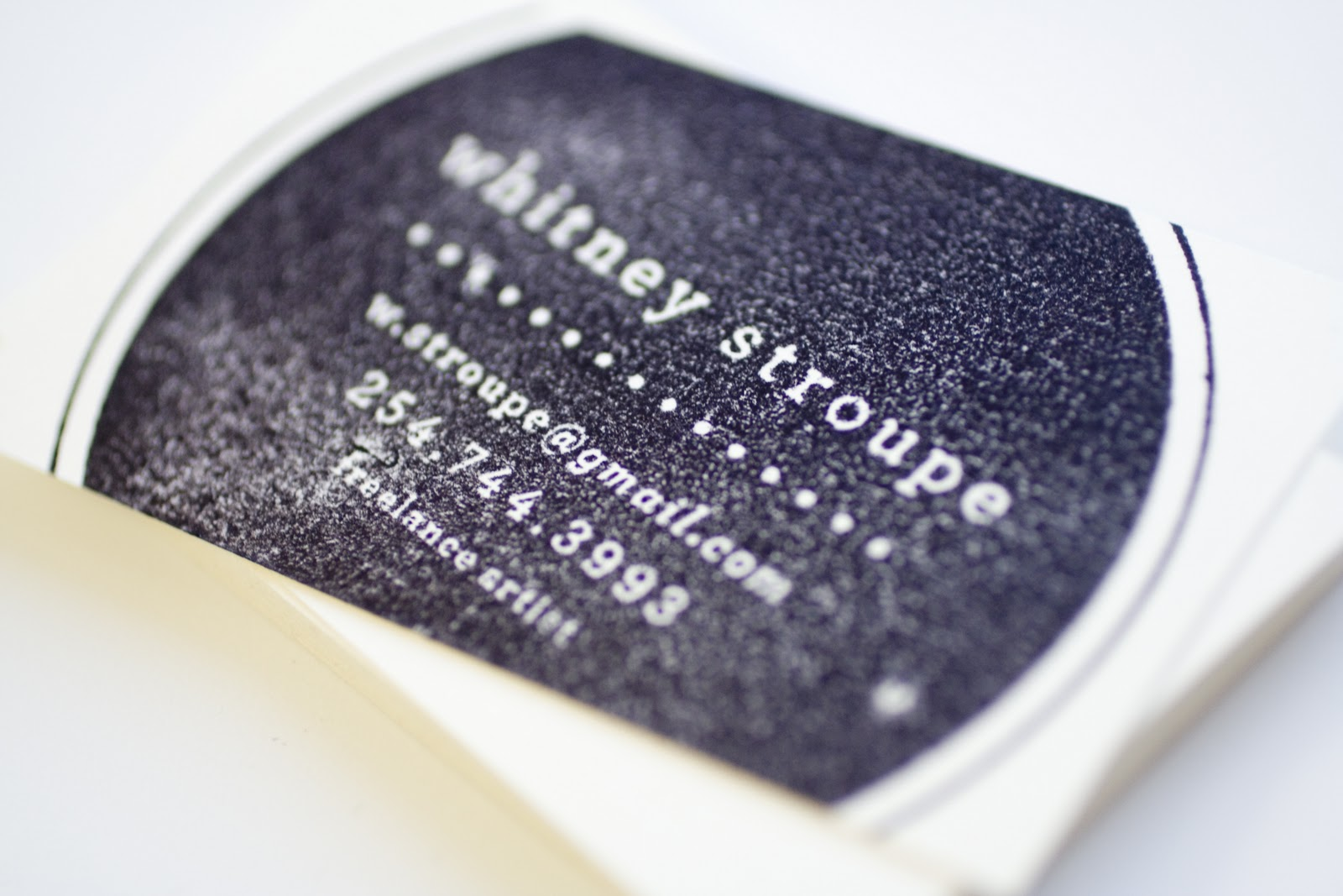 business card stamp | MaeMae & Co.