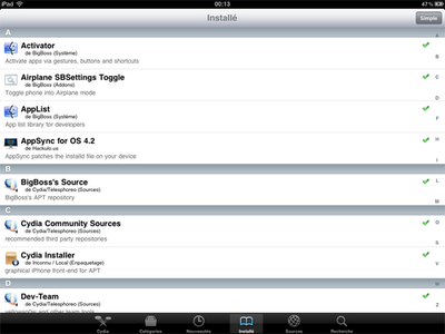 new cydia iPad improvement