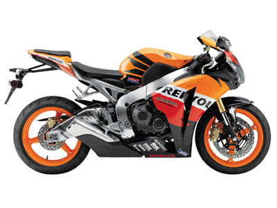 New Honda CBR1000RR Sport Motorcycle 2010