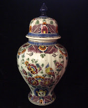 Velsen polychrome lidded jar