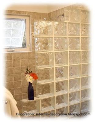 Glass block brick decoration ideas simple but - Glass block decoration ideas ...
