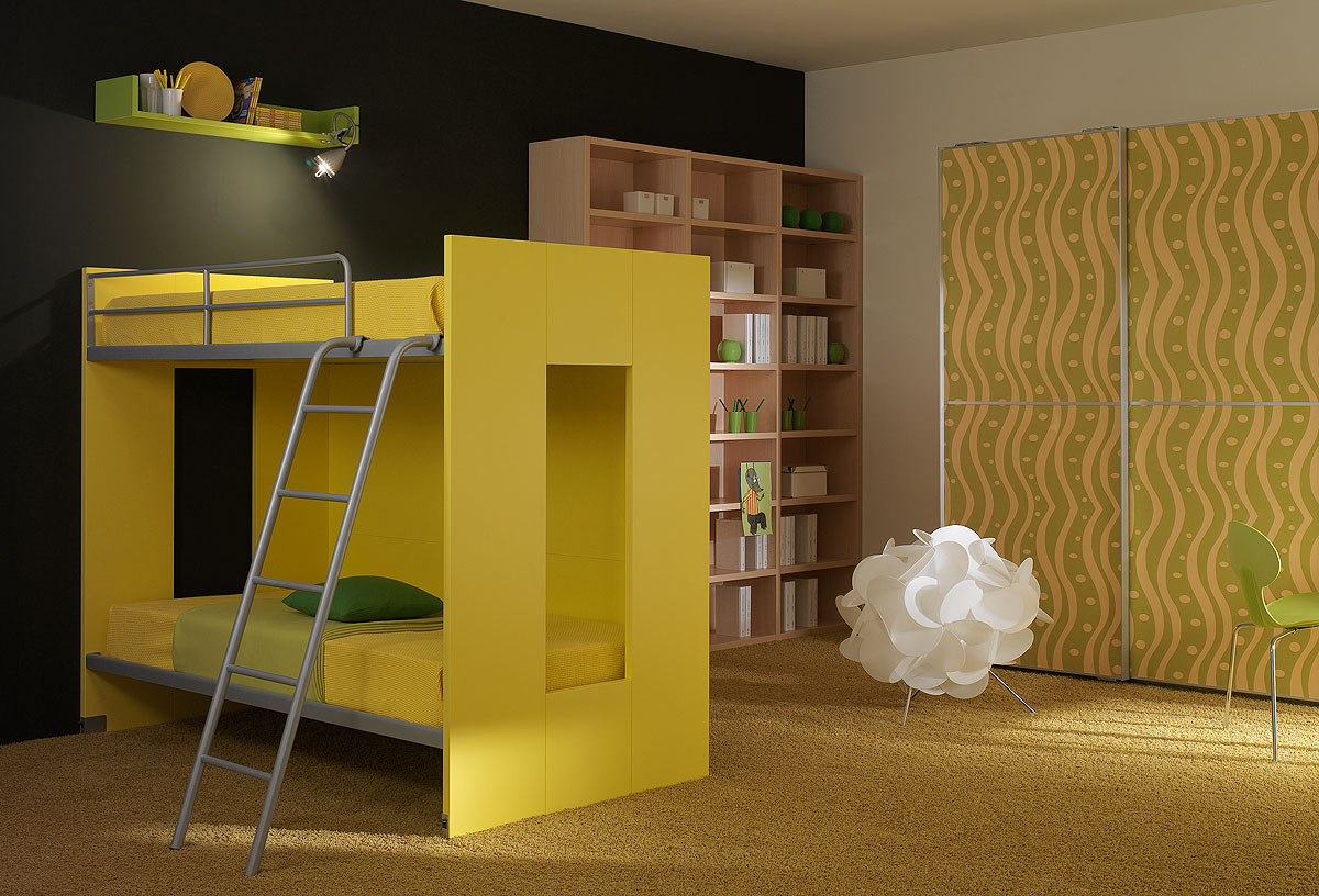 Kids beds can make a kid s room special kids furniture for Modern kids bunk beds