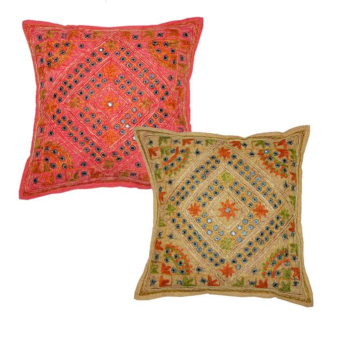 new no l coton coussin housse de coussin set indienne. Black Bedroom Furniture Sets. Home Design Ideas