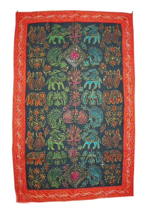 Decorative Wall Hanging Tapestry : Wall decor tapestry hangings from india