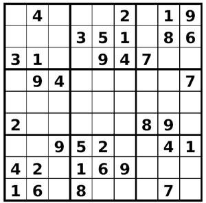 Grille sudoku à imprimer