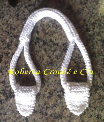 Шаг за шагом, вязание крючком ручек для сумок