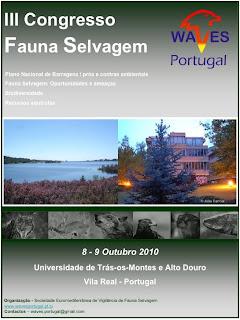 III Congresso da Fauna Selvagem [WAVES - UTAD] [18/19 Fev.] Poster