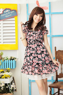 Dress Online Shopping Malaysia on Sweet Mini Dress   Black   Blogshop Malaysia Online Shopping Directory