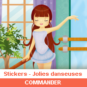 Stickers : jolies danseuses