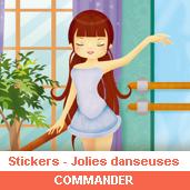 Stickers : jolies danseuses