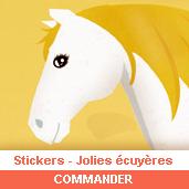 Stickers : jolies écuyères