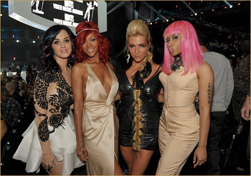 katy perry rihanna kesha and nicki minaj Rihanna To Be Featured On Nicki