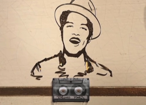 Bruno Mars- Tape design featured in 'Just the way you are' music video
