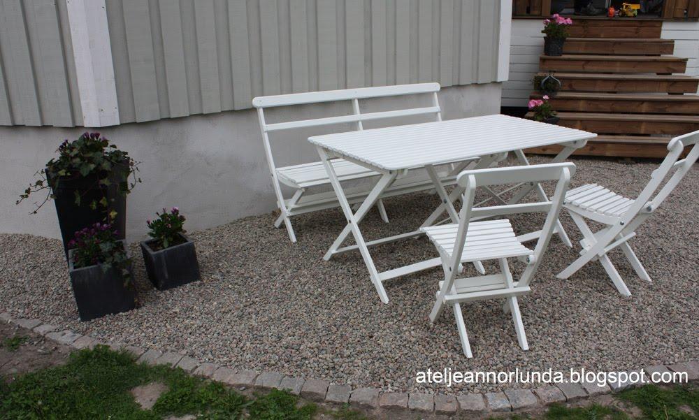 Atelje Annorlunda Vita Gammeldags Tradgardsmobler