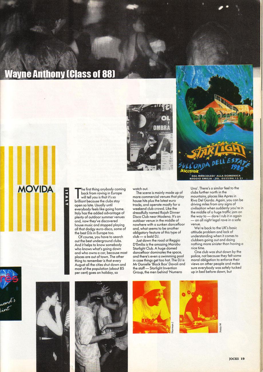 The history of acid house jocks magazine september 1989 for Acid house 1989