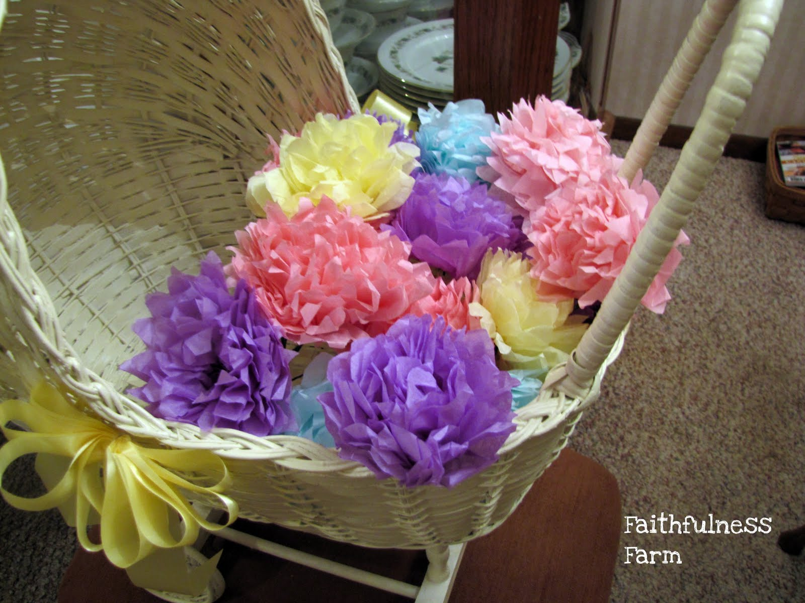Vintage Tissue Paper Flowers Faithfulness Farm