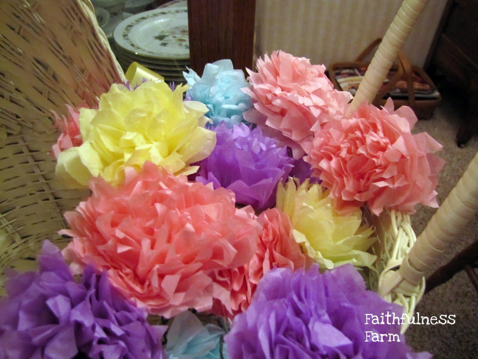 Vintage Tissue Paper Flowers Faithfulness Farm