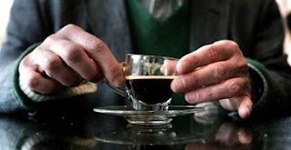 The £50 espresso at Peter Jones. Photograph: Martin Godwin