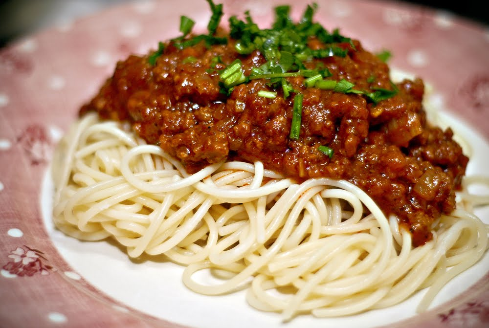 Spaghetti alla Bolognese alla Melayu ;P